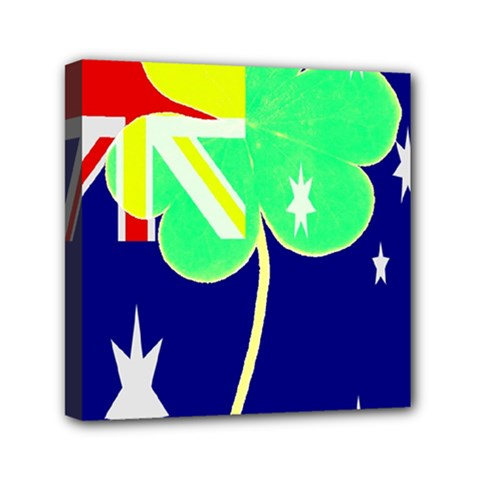 Irish Australian Australia Ireland Shamrock Funny St Patrick Flag Mini Canvas 6  X 6  by yoursparklingshop
