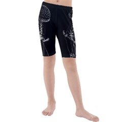 Jellyfish Underwater Sea Nature Kids  Mid Length Swim Shorts by Amaryn4rt