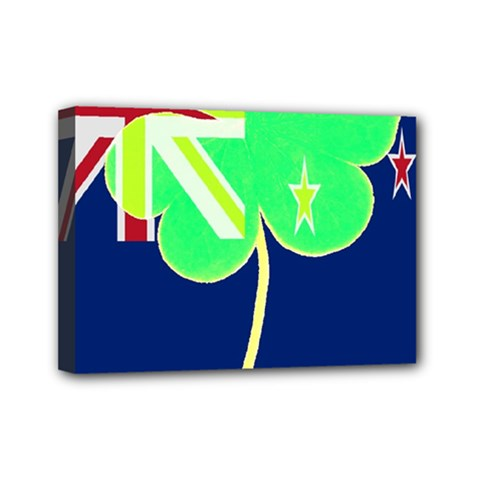 Irishshamrock New Zealand Ireland Funny St Patrick Flag Mini Canvas 7  X 5  by yoursparklingshop