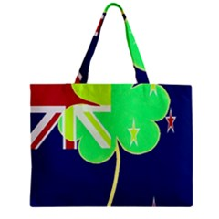 Irish Shamrock New Zealand Ireland Funny St  Patrick Flag Zipper Mini Tote Bag by yoursparklingshop