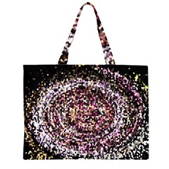 Mosaic Colorful Abstract Circular Zipper Large Tote Bag by Amaryn4rt