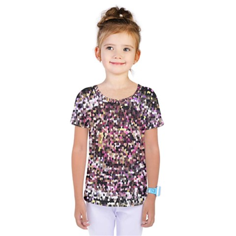 Mosaic Colorful Abstract Circular Kids  One Piece Tee by Amaryn4rt