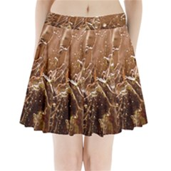 Ice Iced Structure Frozen Frost Pleated Mini Skirt