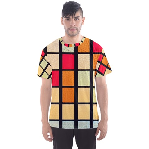 Mozaico Colors Glass Church Color Men s Sport Mesh Tee by Amaryn4rt