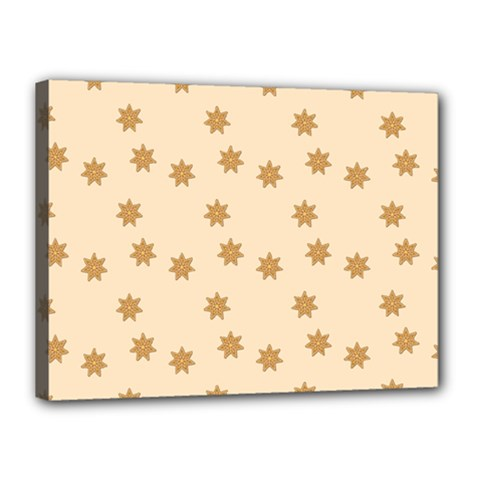 Pattern Gingerbread Star Canvas 16  X 12