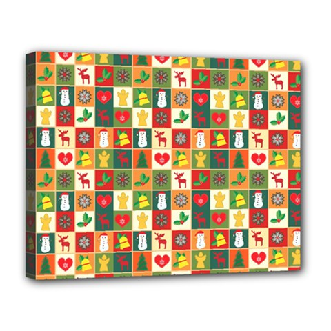 Pattern Christmas Patterns Canvas 14  X 11  by Amaryn4rt