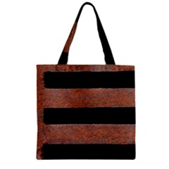 Stainless Rust Texture Background Zipper Grocery Tote Bag by Amaryn4rt