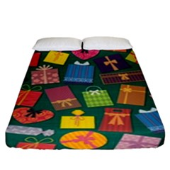 Presents Gifts Background Colorful Fitted Sheet (king Size) by Amaryn4rt