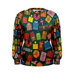Presents Gifts Background Colorful Women s Sweatshirt by Amaryn4rt