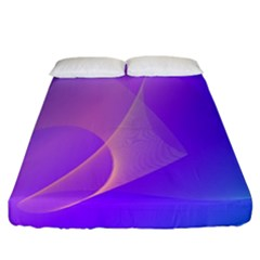 Vector Blend Screen Saver Colorful Fitted Sheet (california King Size) by Amaryn4rt