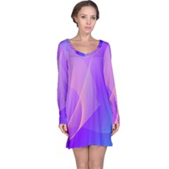 Vector Blend Screen Saver Colorful Long Sleeve Nightdress by Amaryn4rt