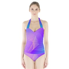 Vector Blend Screen Saver Colorful Halter Swimsuit by Amaryn4rt