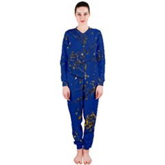 Poplar Foliage Yellow Sky Blue Onepiece Jumpsuit (ladies)  by Amaryn4rt