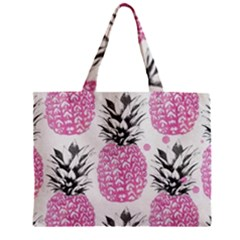 Lovely Pink Pineapple  Zipper Mini Tote Bag by Brittlevirginclothing