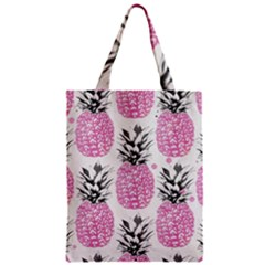Lovely Pink Pineapple  Zipper Classic Tote Bag by Brittlevirginclothing