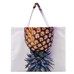 La Pina Pineapple Zipper Large Tote Bag by Brittlevirginclothing