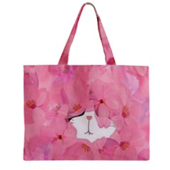 Gorgeous Pink Flowers  Zipper Mini Tote Bag by Brittlevirginclothing