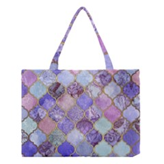 Blue Toned Moroccan Mosaic  Medium Tote Bag by Brittlevirginclothing