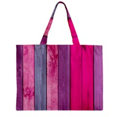 Pink Colored Wood Zipper Mini Tote Bag by Brittlevirginclothing