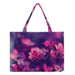 Blurry Violet Flowers Medium Tote Bag by Brittlevirginclothing