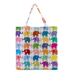 Lovely Colorful Mini Elephant Grocery Tote Bag by Brittlevirginclothing