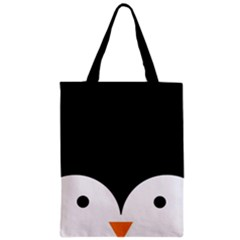 Adorable Pinguin Design Zipper Classic Tote Bag by Brittlevirginclothing