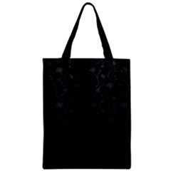 Dark Silevered Flowers Pattern Classic Tote Bag by Brittlevirginclothing