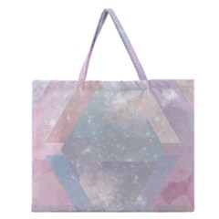 Colorful Pastel Crystal Zipper Large Tote Bag by Brittlevirginclothing