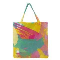 Colorful Paint Brush  Grocery Tote Bag by Brittlevirginclothing