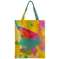 Colorful Paint Brush  Zipper Classic Tote Bag by Brittlevirginclothing