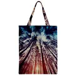 Lovely Up View Forest  Zipper Classic Tote Bag