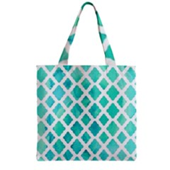 Blue Mosaic  Grocery Tote Bag by Brittlevirginclothing