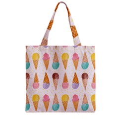 Colorful Ice Cream  Grocery Tote Bag by Brittlevirginclothing