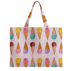 Colorful Ice Cream  Zipper Mini Tote Bag by Brittlevirginclothing