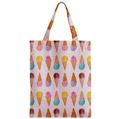 Colorful Ice Cream  Zipper Classic Tote Bag by Brittlevirginclothing