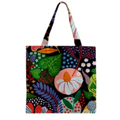 Japanese Inspired  Zipper Grocery Tote Bag by Brittlevirginclothing