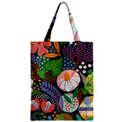 Japanese Inspired  Zipper Classic Tote Bag by Brittlevirginclothing