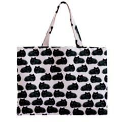 Black Cat Zipper Mini Tote Bag by Brittlevirginclothing