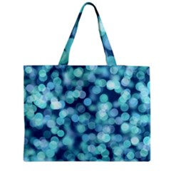 Blue Toned Light  Medium Zipper Tote Bag by Brittlevirginclothing