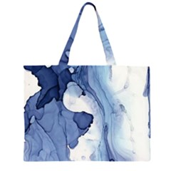 Paint In Water Zipper Large Tote Bag by Brittlevirginclothing