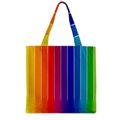 Fading Rainbow Zipper Grocery Tote Bag by Brittlevirginclothing
