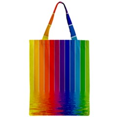 Fading Rainbow Zipper Classic Tote Bag by Brittlevirginclothing