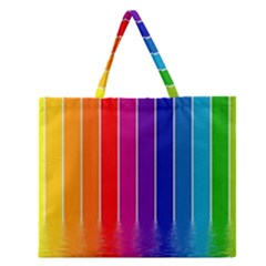 Fading Rainbow Zipper Large Tote Bag by Brittlevirginclothing