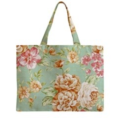 Vintage Pastel Flowers Mini Tote Bag by Brittlevirginclothing