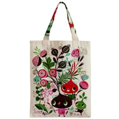 Cute Flower Cartoon  Characters  Zipper Classic Tote Bag by Brittlevirginclothing