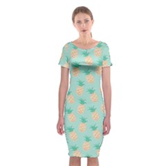 Cute Pineapple Classic Short Sleeve Midi Dress by Brittlevirginclothing