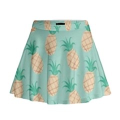 Cute Pineapple Mini Flare Skirt by Brittlevirginclothing