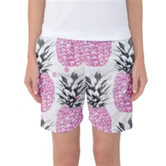 Cute Pink Pineapple  Women s Basketball Shorts by Brittlevirginclothing