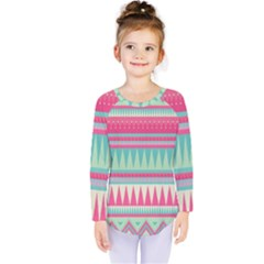 Lovely Pink Bohemian Kids  Long Sleeve Tee by Brittlevirginclothing