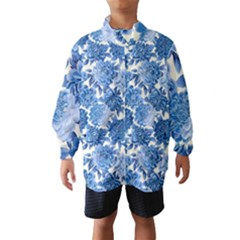 Blue Flowers Wind Breaker (kids) by Brittlevirginclothing